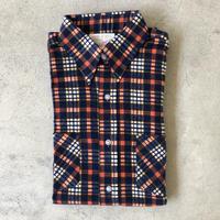 未使用70's〜プリントネルシャツ