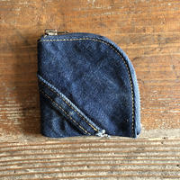 Dirty Leather denim coin case②
