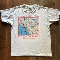 92年アラスカハイウェイマップTシャツ