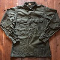 60's〜70'sコットン ユーティリティシャツ 15 1/2 x33 ②