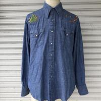 70's〜コットンシャンブレーウエスタンシャツ