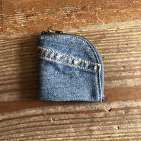 Dirty  Leather denim coin case⑤