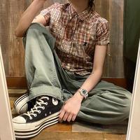 STUSSYパッチワーク半袖シャツ
