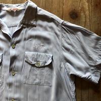60年代レーヨン半袖ボーリングシャツ
