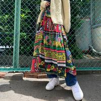 インド製コットン柄スカート