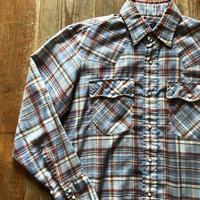 70's-80's ウエスタンチェックシャツ M ⑧