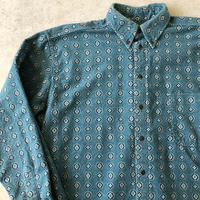 〜90's USA製WOOLRICH 総柄シャモアクロスシャツ