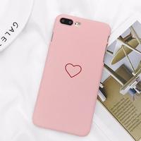 ピンク iPhoneケース アイフォンケース スマホケース シンプル 韓国 流行り ハート 6 6s 6plus 6splus 7plus 8plus iPhone6プラス iPhone6sプラス