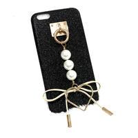 チャーム スマホケース アイフォンケース ラメ キラキラ ハート リボン 大人可愛い 韓国 おしゃれ かわいい 6プラス iPhone6splus iPhone7plus iPhone8プラス