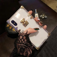 韓国 スクエアケース アイフォンケース 人気 おしゃれ 海外 透明 クリア 通販 カバー スクエア 7plus 8プラス X XS iPhone7プラス iPhoneX iPhoneXS
