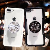 リング付き スマホケース アイフォンケース 韓国 キラキラ 流行り 人気 便利 スマホスタンド ラインストーン ビジュー 6s 8 MAX XR iPhone6 iPhone7 iPhoneXR