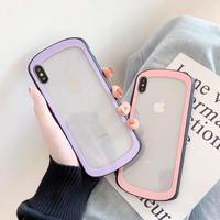 シンプル クリアケース 韓国 カバー 透明 かわいい おすすめ おしゃれ 女子 スマホ アイフォン 大人可愛い iphonecase テンアール iphone ケース 7 8 X XS XR