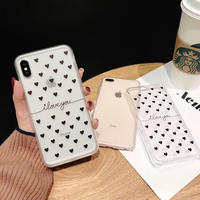 ハート柄 iphoneケース クリアケース 韓国 透明 かわいい ケース おしゃれ お洒落 海外 女子 スマホ アイフォン シンプル 大人可愛い 6s 8 X iPhone6 iPhoneXS