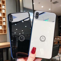 ニコちゃん iphoneケース 韓国 通販 カバー 人気 スマイリー スマイル 鏡 ミラー付き スマホケース アイフォンケース 6 8 X iphone7 iphonexs XR テンアール
