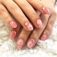 【10枚セット】桜ネイル(リビングコーラル)/SET970-979