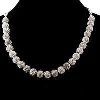 ラインストーンパヴェネックレス25玉 ブラックダイヤモンド