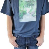 T-shirt <Navy×Palm Green>