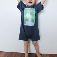 Rompers<ロンパース> Navy×Palm Green