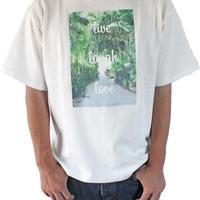 T-shirt <White×Palm Green>