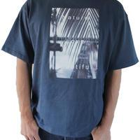 T-shirt <Navy×Pam Monochrome>