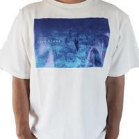 T-shirs <White×Kona Blue >