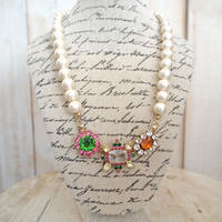 cotton pearl bijoux necklace petite 33⑤