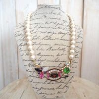 cotton pearl bijoux necklace petite 33③