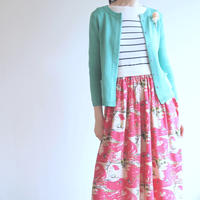 feather tulip Cardigan green