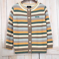 Lilisia Border Cardigan green x orange