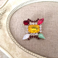 bijou brooch ④  yellow x multi