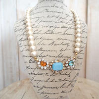 cotton pearl bijoux necklace petite 33⑧