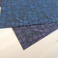 KPM027-O Wrapping Paper  #1FLEURON パープル 1枚
