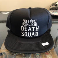 DEATH SQUAD SUPPORT YOUR LOCAL メッシュキャップ