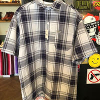 CALTOP COLORBASE チェックシャツ NAVY