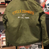 Cycle Zombies x Bluco BUY SELL TRADE ワークジャケット GREEN