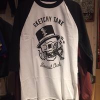 SKETCHY TANK SOCIAL CLUB ラグランシャツ