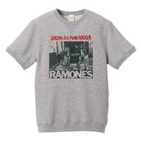 【Sheena is a punk rocker/Ramones-ラモーンズ】8.4オンス ショートスリーブ スウェット/GY/SWW-315