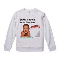 【James Brown Think!/ジェームズブラウン】9.3オンス スウェット/WH/SW- 016
