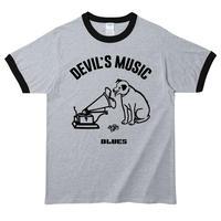 【Devils Music/Blues】ニッパーくんパロディ 5.3オンス Tシャツ/GYBK/RT- 439