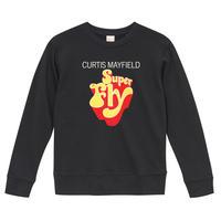 【Super Fly-Curtis Mayfield/スーパーフライ-カーティス・メイフィールド】9.3オンス スウェット/BK/SW-070
