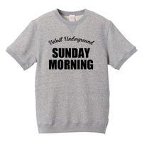 【The Velvet Underground-ヴェルヴェット・アンダーグラウンド/SUNDAY MORNING】8.4オンス ショートスリーブ スウェット/GY/SW-163