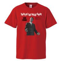 【Sam Cooke-サムクック/twistin' the night away】5.6オンス Tシャツ/RD/ST- 192