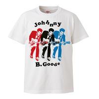 【Chuck berry-JOHNNY B. GOODE /チャックベリー】5.6オンス Tシャツ/WH/ST- 432