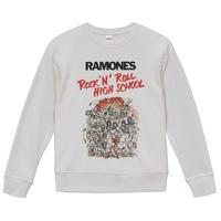 【Ramones-Rock 'n' Roll High School /ラモーンズ-ロックンロールハイスクール】9.3オンス スウェット/WH/SW-084