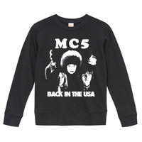 【 MC5/BACK IN THE USA】9.3オンス スウェット/BK/SW- 389