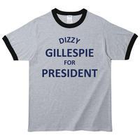 【Dizzy Gillespie/ディジーガレスピー】5.3オンス Tシャツ/GYBK/RT- 598