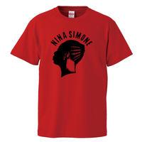 【Nina Simone/ニーナシモン】5.6オンス Tシャツ/RD/ST- 585