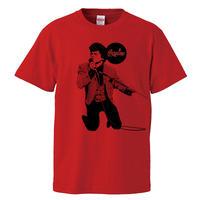 【James brown-ジェームズ・ブラウン/cocaine】5.6オンス Tシャツ/RD/ST- 283