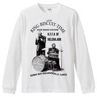 【Sonny Boy Williamson-サニーボーイウィリアムスン/KING BISCUIT TIME】 5.6Oz ロングスリーブTシャツ/WH/LT- 371
