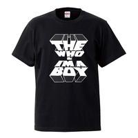 【I'M A BOY-THE WHO/ザ・フー】5.6オンス Tシャツ/BK/ST-072_wh